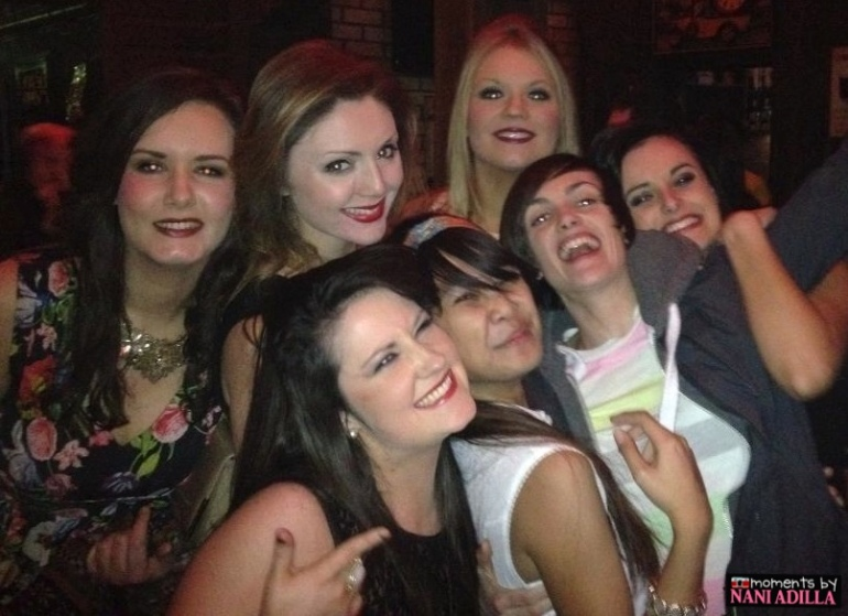 Partying with the lovely Year 4 OT girls Photo courtesy of Natasha McGowan
