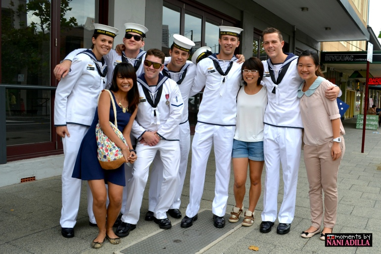 Phototaking with the Navy men