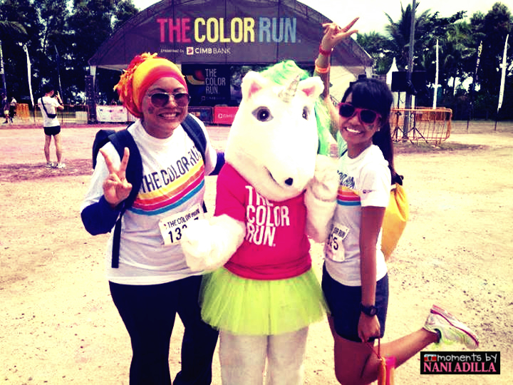The Color Run mascot and our obsession with unicorns!