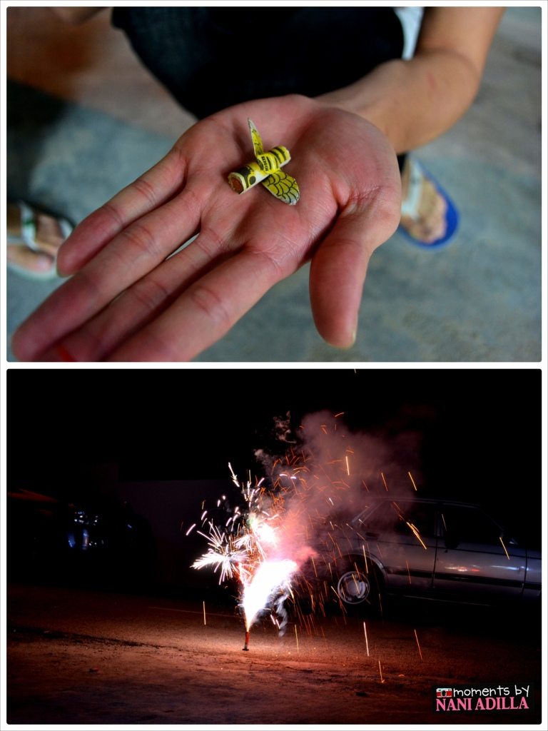Playing with firecrackers