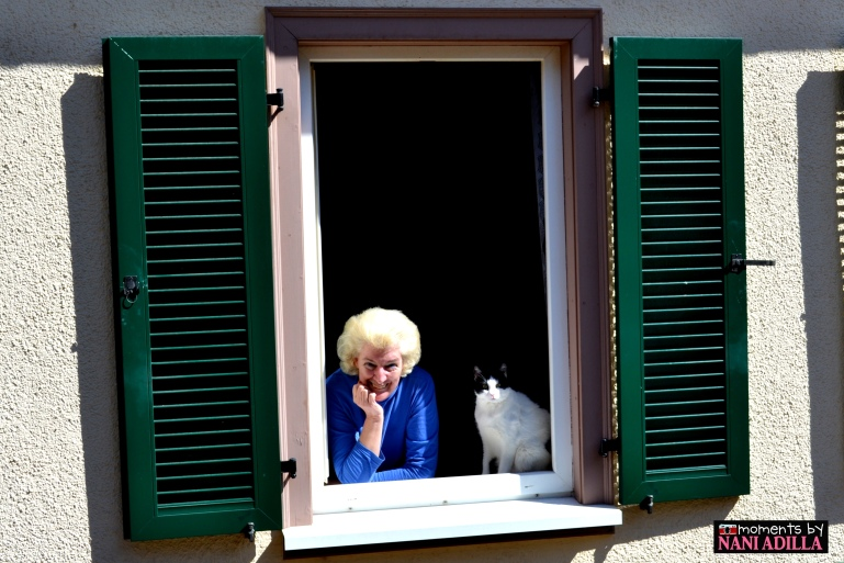 Next-door neighbour and her pet cat Felix
