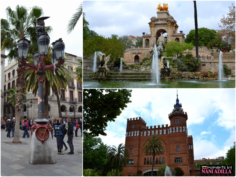 1) Works by Gaudi: Street lamppost. and Cascada Fountain at Park de la Ciutadella; 2) Museum of Natural Science