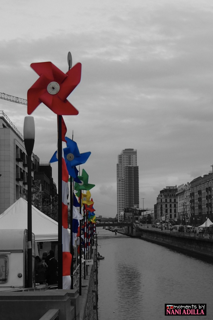 Windmills along Canal Bruxelles-Charleroi