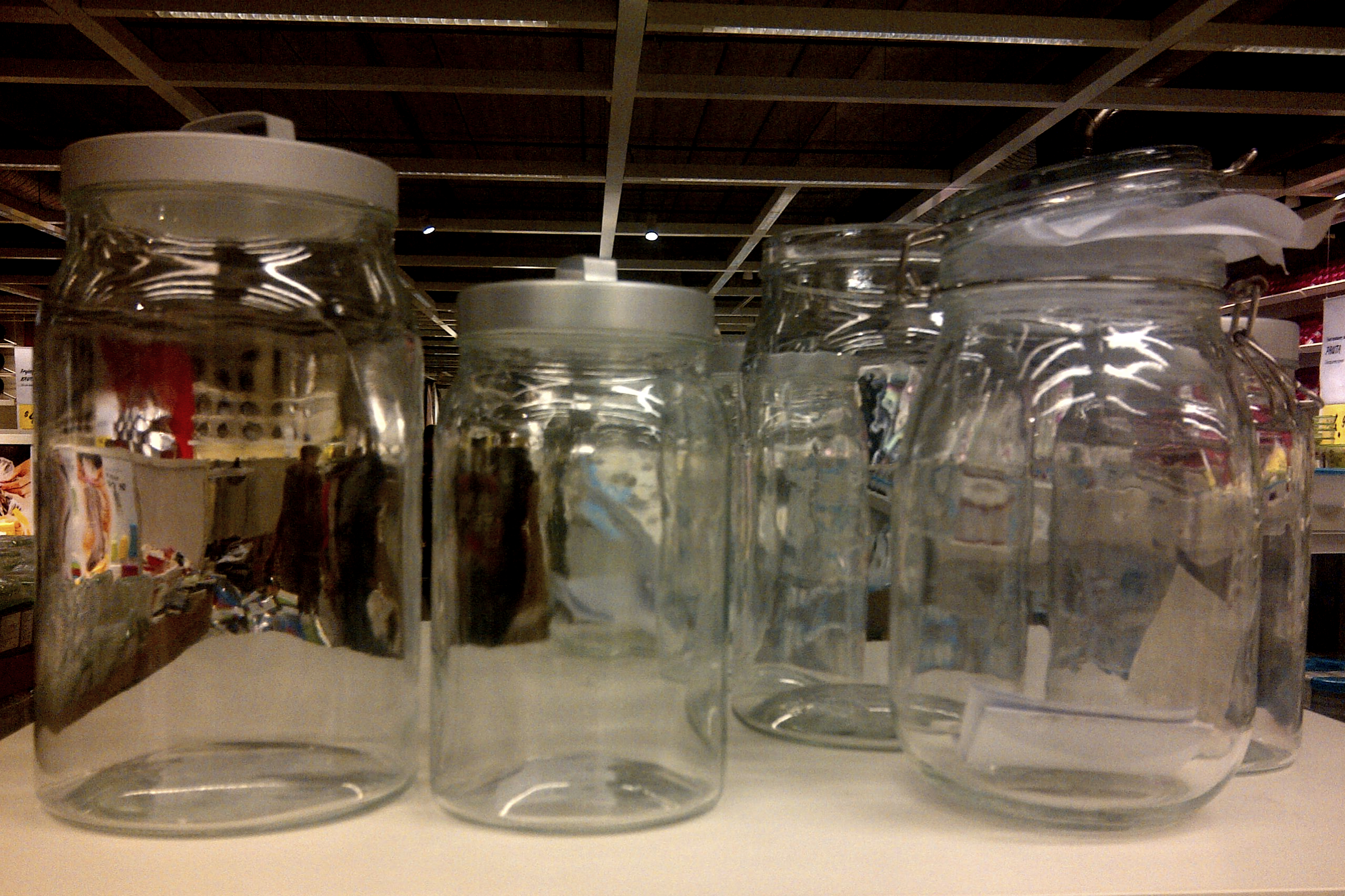 Glass Storage Jars With Lids Ikea Wood Glass Canisters