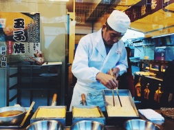 A street vendor making some egg Tamagoyaki | Tokyo, Japan (Shot on iPhone 5S)